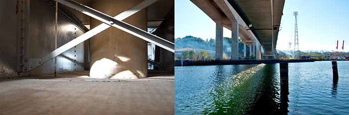 """© 2015, Ethan Bickel, Duwamish Diptych No. 2, Digital photograph, 7"""" x 21"""". Courtesy of the artist"""